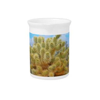 Pichet Broc sautant de porcelaine de cactus