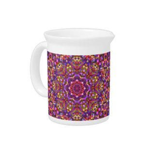 Pichet Brocs de porcelaine    de kaléidoscope de mosaïque