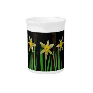 Pichet Cadeaux jaunes élégants de bouquet floral de fleur