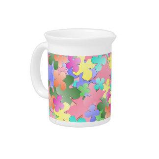 Pichet Collage en pastel de fleur