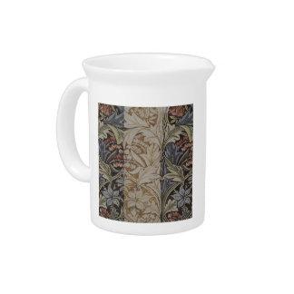 Pichet Copie botanique de tissu de jacinthe des bois de