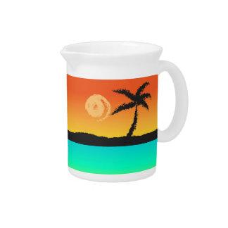 Pichet Coucher du soleil d'île