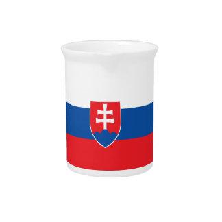 Pichet Drapeau de la Slovaquie