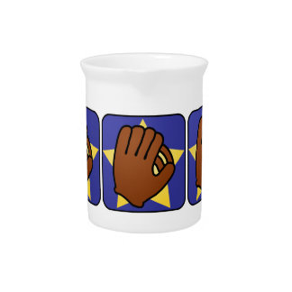 Pichet Étoile d'or de gant de base-ball de sports de