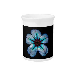 Pichet Fleur sauvage au néon bleu