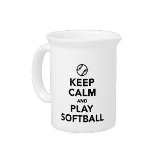 Pichet Gardez le base-ball de calme et de jeu