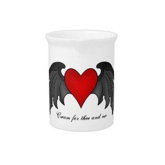 Pichet Jour de Valentines à ailes gothique de coeur