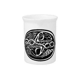 Pichet Kangourou celtique de noeud noir et blanc