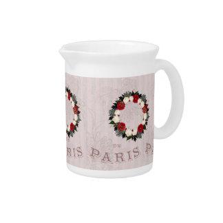 """Pichet La guirlande """"Fleur"""" fleurit le broc de porcelaine"""