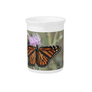 Pichet Papillon de monarque, lanceur de fleur de chardon