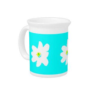 Pichet Soleil 4Penelope floral de turquoise