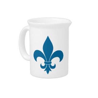 Pichet Symbole bleu de Fleur de lis French