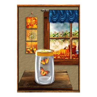 Pièce à la maison carton d'invitation  12,7 cm x 17,78 cm