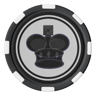 Pièce d'échecs noire du Roi Rouleau De Jetons De Poker