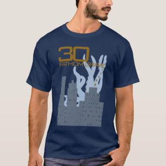 Pièce en t bleue grave de 30 brasses t-shirt