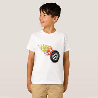 Pièce en t chaude de roues d'enfants t-shirt