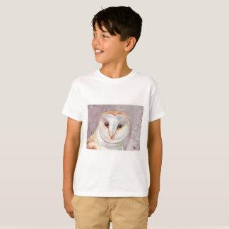 Pièce en t d'aquarelle de hibou de grange t-shirt