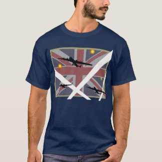 Pièce en t d'Avro Lancaster Union Jack T-shirt