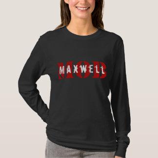 Pièce en t de douille de noir de FOULE de Maxwell T-shirt
