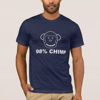 Pièce en t de graphique de CHIMPANZÉ de 98% T-shirt
