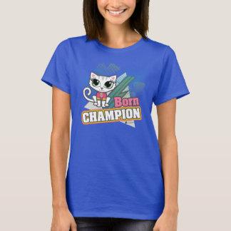 Pièce en t de motivation de chat de champion né t-shirt