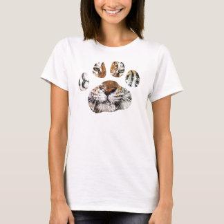 Pièce en t de patte de tigre desséchée par cru t-shirt