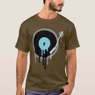 Pièce en t de Turnable de vinyle du DJ T-shirt