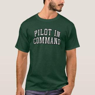 """Pièce en t drôle de """"pilote aux commandes"""" t-shirt"""