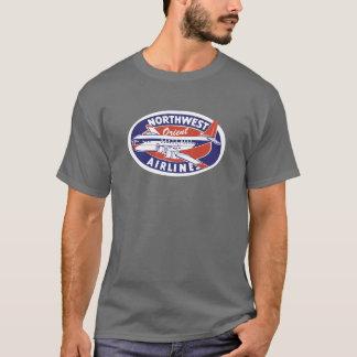 Pièce en t du nord-ouest de cru de lignes t-shirt