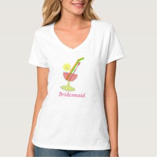 Pièce en t en verre de cocktail de demoiselle t-shirt