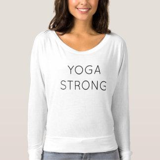 Pièce en t forte d'écoulement de douille de yoga t-shirt