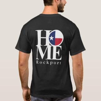 Pièce en t noire À LA MAISON de Rockport le Texas T-shirt