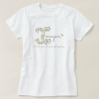 Pièce en t nommée de monogramme de signification t-shirt