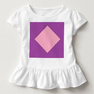 pièce en t pourpre et rose-clair de ruche d'enfant t-shirt pour les tous petits