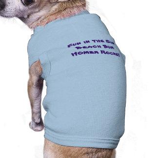 Pièce en t sans valeur de chienchien de plage tee-shirts pour chien