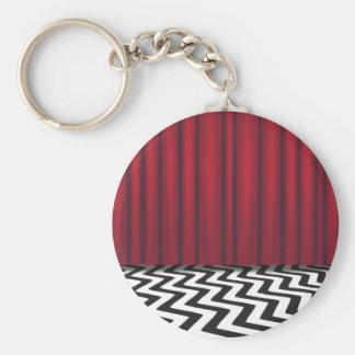 Pièce noire de rouge de loge porte-clés