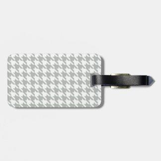 Pied-de-poule de gris argenté étiquettes bagages