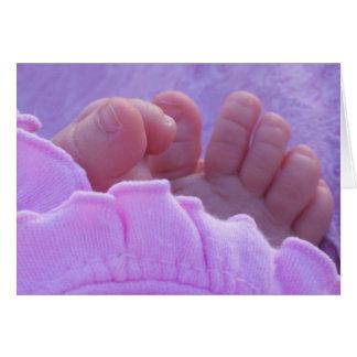 Pieds de bébé carte de vœux