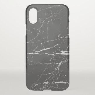 Pierre de marbre gris-foncé et blanche coque iPhone x