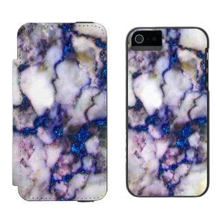 Pierre de marbre rose grise blanche de coque-portefeuille iPhone 5 incipio watson™
