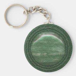 Pierre gemme Matrix d'agate de mousse Porte-clés