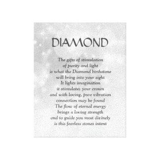 Pierre porte-bonheur de diamant - toile d'art de