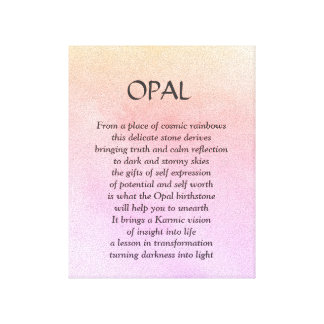 Pierre porte-bonheur opale - toile d'art de poème
