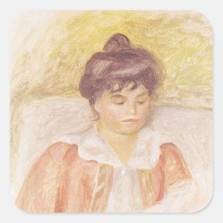 Pierre un portrait de Renoir | de Madame Albert Sticker Carré