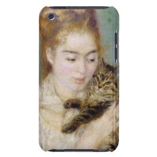Pierre une femme de Renoir   avec un chat Coque iPod Case-Mate