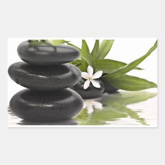 Pierres de zen sticker rectangulaire