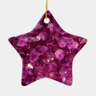 Pierres précieuses pourpres de cristal de quartz ornement étoile en céramique