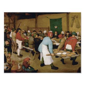 Pieter Bruegel l'aîné - mariage rural Photographie