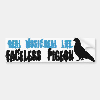 Pigeon sans visage : Vie réelle, vraie musique Autocollant De Voiture