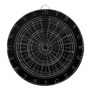 PIJLTJE Chakra - Zwarte Ruwe Tough van de Wielen Dartbord